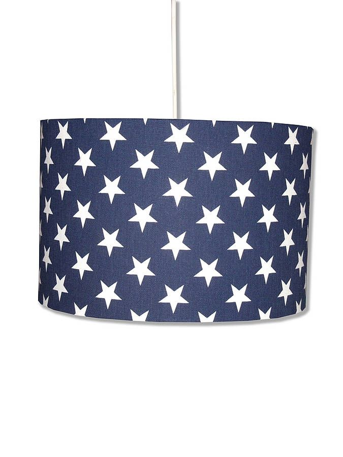 Blue Stars Lampshade By Hunkydory Home