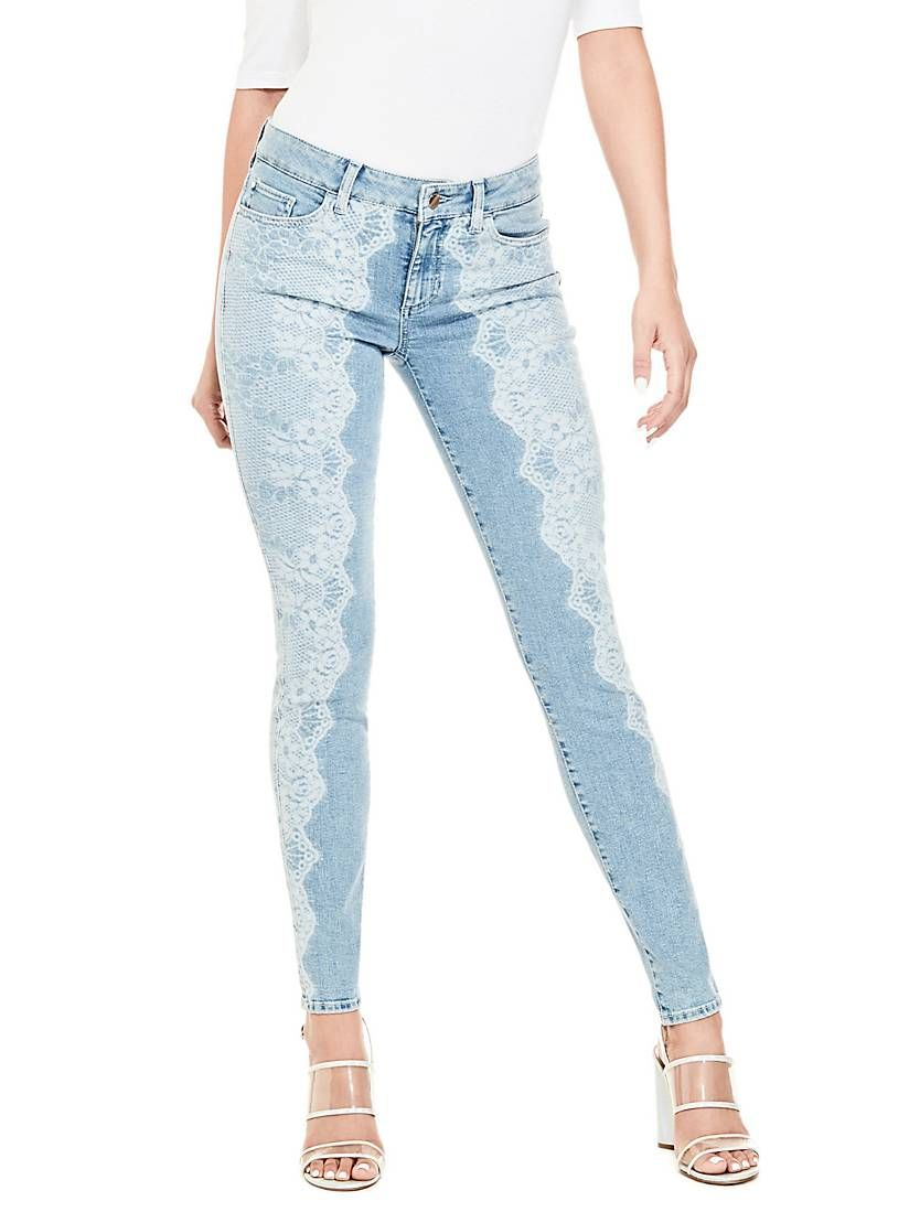 9afb36560c5 Jeans with lace effect in 2019