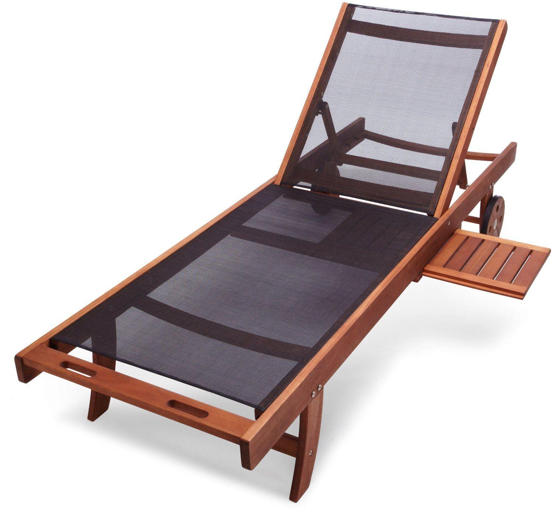 Amazon Strathwood Basics Chaise Lounge Chair with Textilene