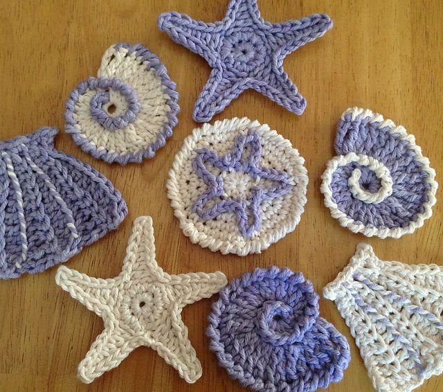 Ravelry Sea Shell Motifs Pattern By Lynne Samaan Free Crochet
