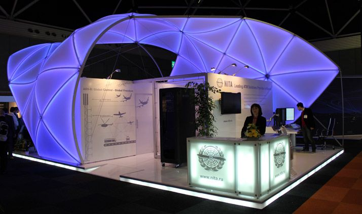 Exhibition Stand Structure : From studio dega a new style of modular exhibition system