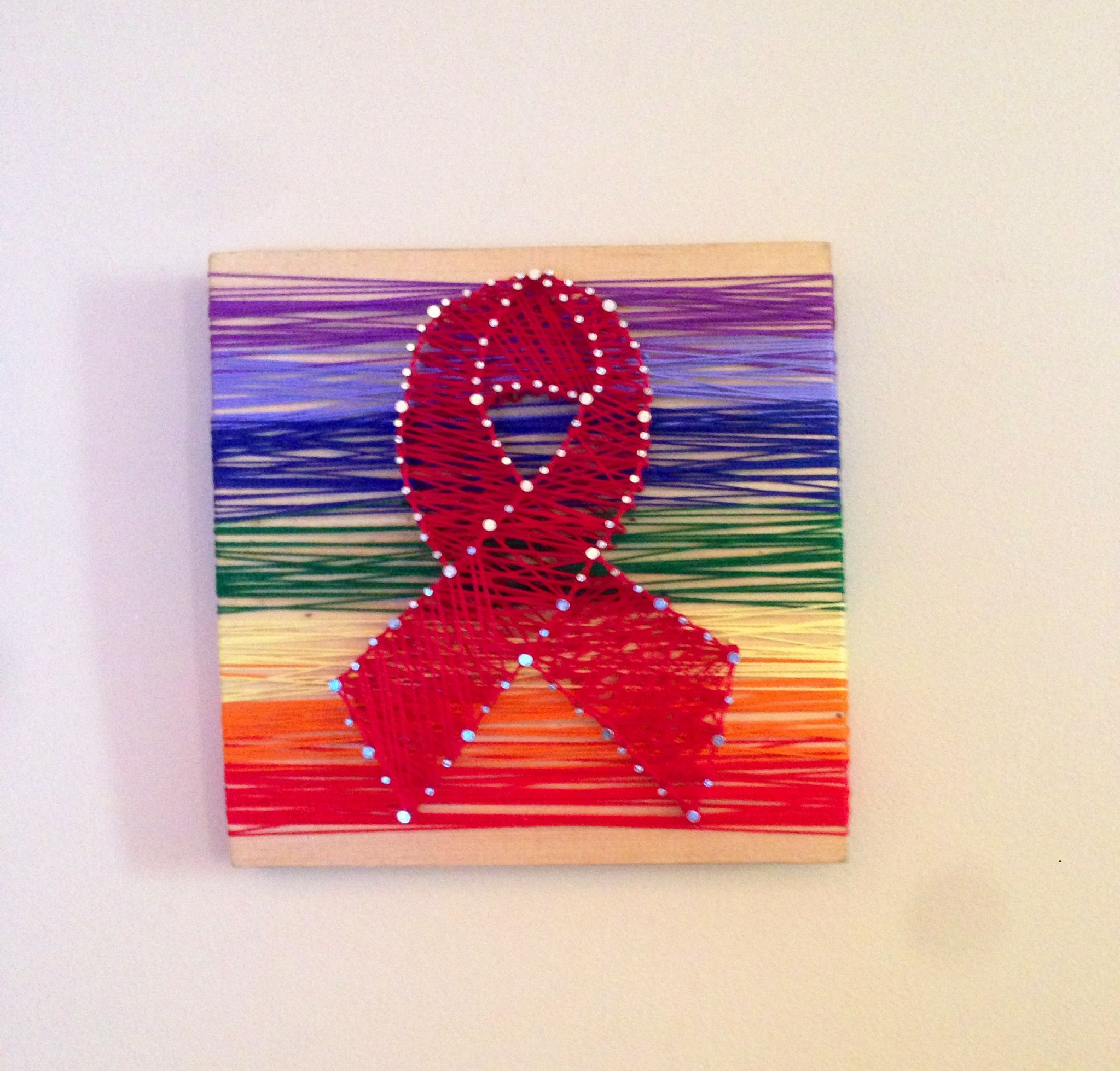 Handmade Aids Ribbon 7 14 In X 7 14 In Previous Pieces