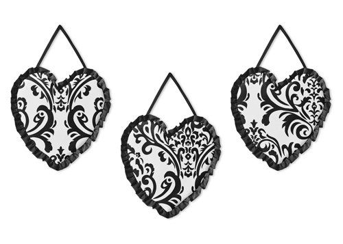 Black and White Isabella Wall Hanging Accessories by Sweet Jojo Designs * Learn more by visiting the image link.Note:It is affiliate link to Amazon.