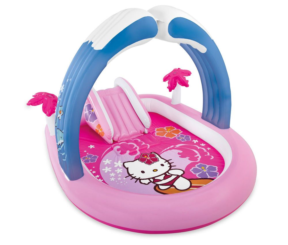 Inflatable Pool Slide Intex intex hello kitty play center inflatable kids set & swimming pool