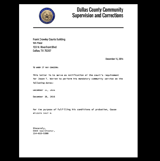 Court Letter Excuse Work Template Verification Fake Job