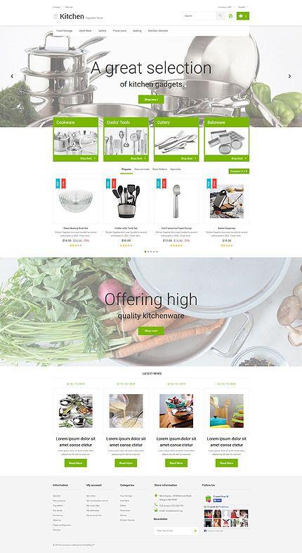 Kitchen Supplies Store #PrestaShop #template. #themes #business ...