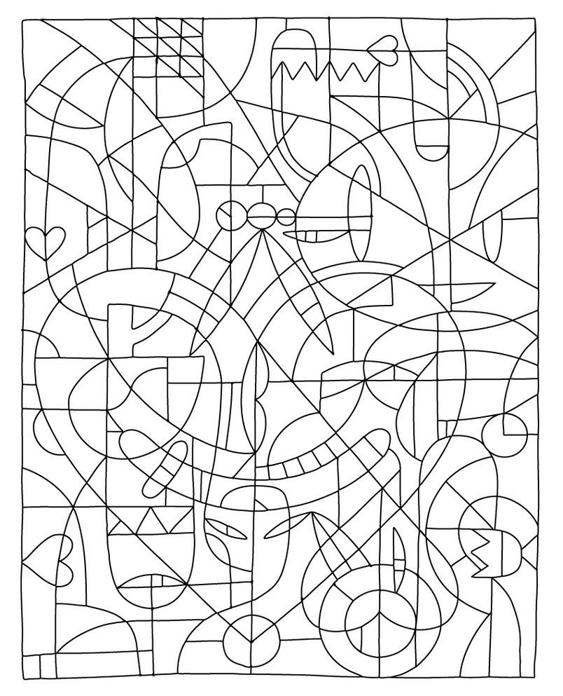 Easier Color By Numbers Template By Betteo Decoloring Online Coloring Pages Abstract Coloring Pages Coloring Pages
