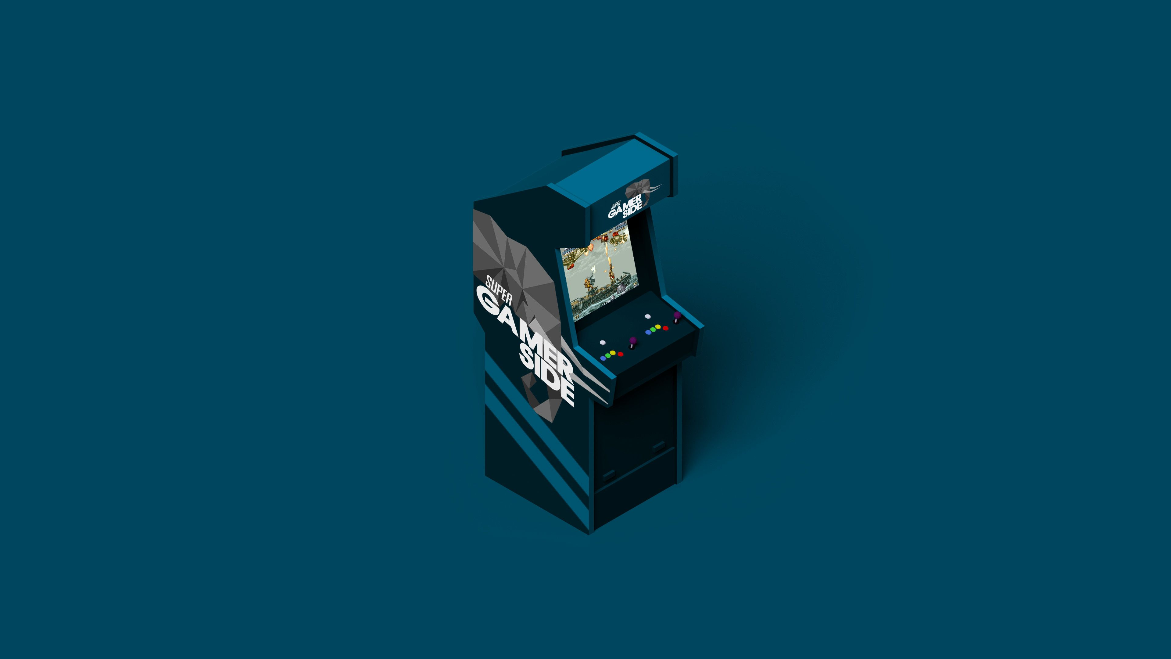 Arcade Gaming Minimalist Arcade Gaming Minimalist 4k Wallpaper Arcade Minimalist Wallpaper