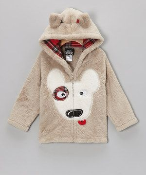 Boys Rock Little Boys Plush Hoodie Puppy