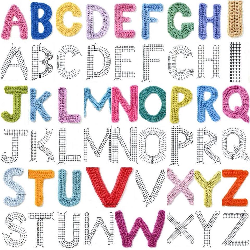 Abecedario crochet | Crochet: LETRAS Y NUMEROS | Pinterest ...