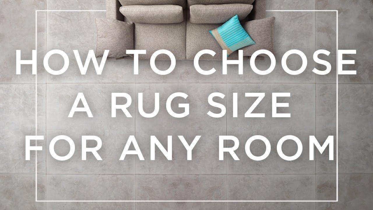 3d51b4a7c4 How To Choose A Rug Size For Any Room - YouTube