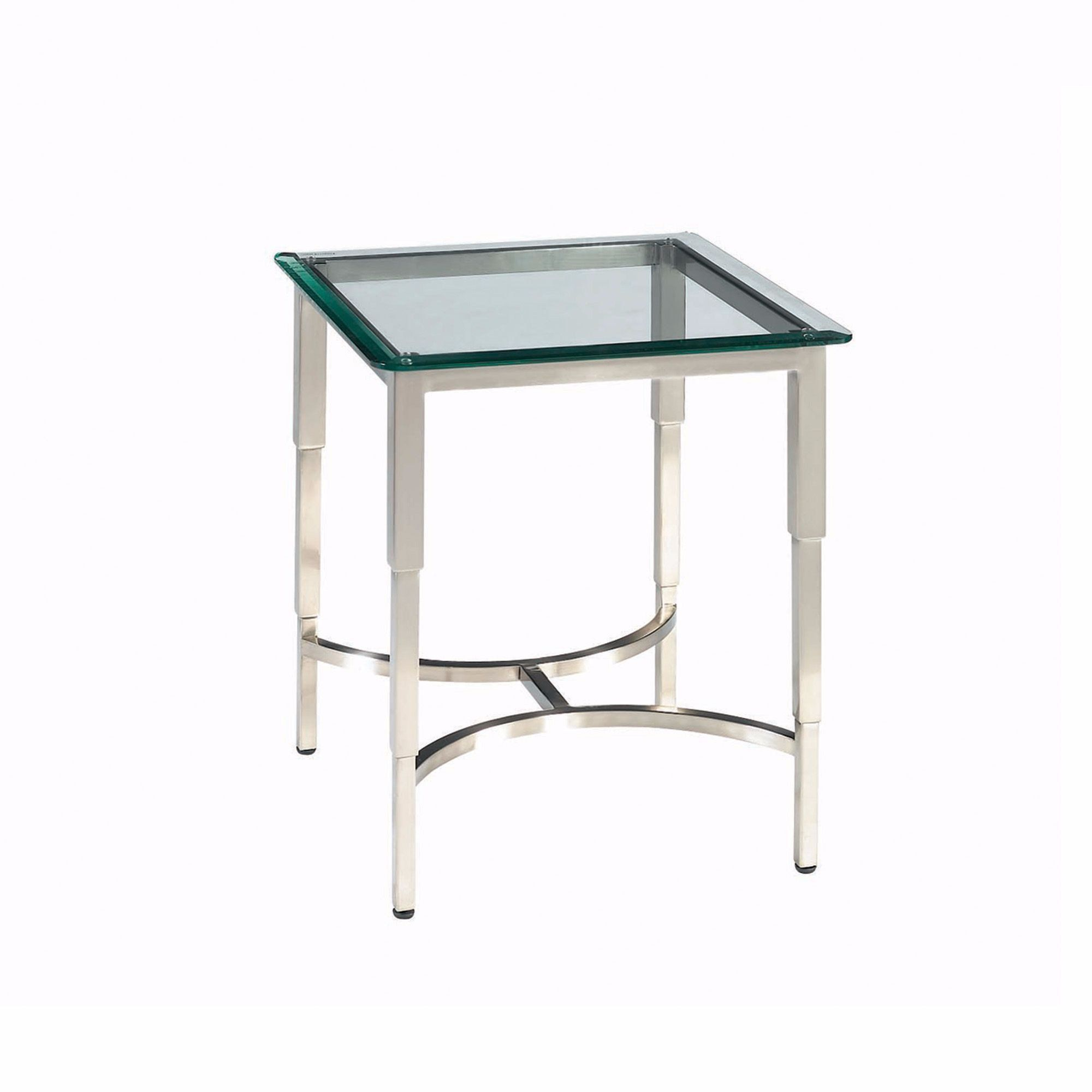 Sheila Square Glass Top End Table At Lamporia For Only 644 24