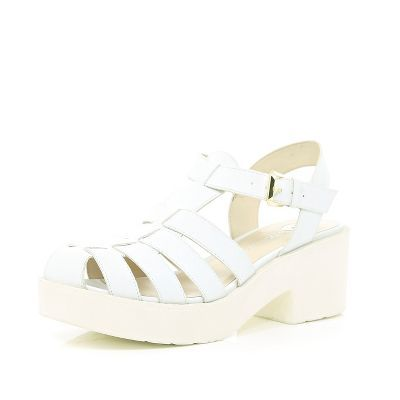 White block heel gladiator sandals | fashion :-) ♥ | Pinterest ...