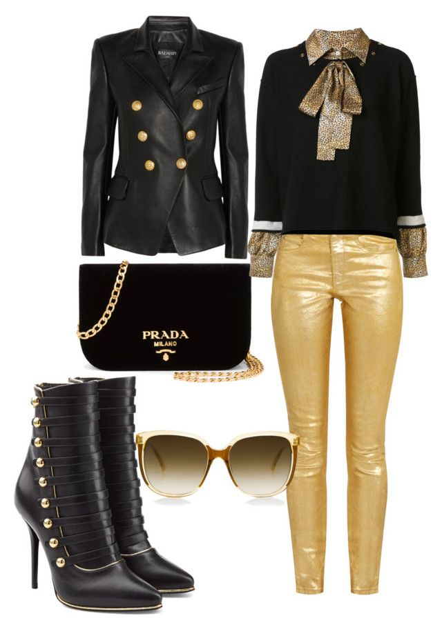 """""""You forgot your bling bling!!!"""" by angelpollie on Polyvore featuring Étoile Isabel Marant, Balmain, Prada and Sonia Rykiel"""