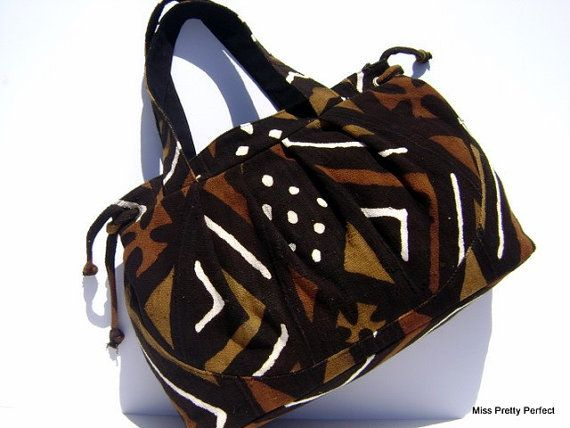 Items similar to African Mudcloth Large Unisex Travel Bag on Etsy