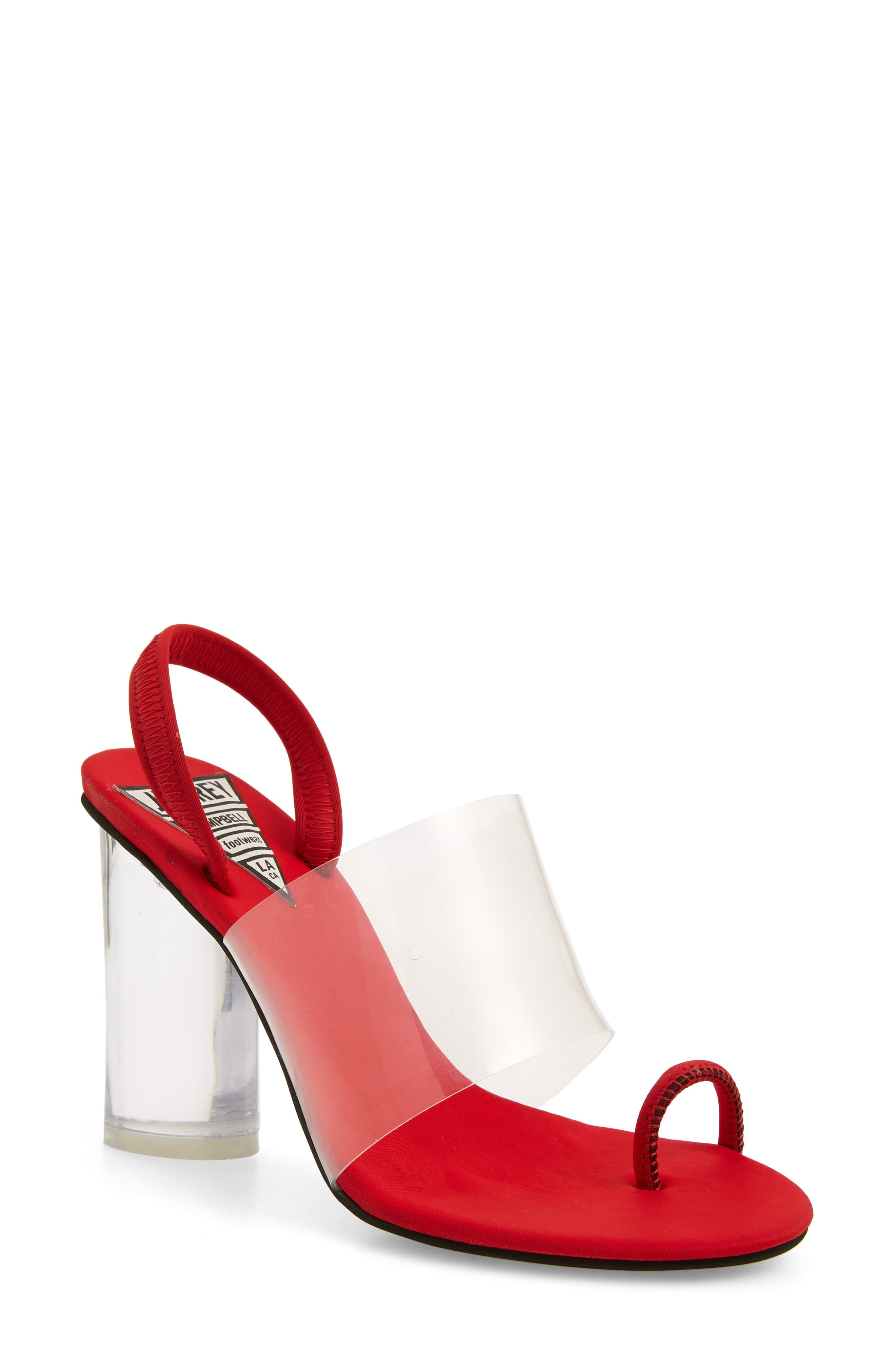 d621b2ddaa2 Women's Jeffrey Campbell Mania Clear Toe Loop Sandal, Size 10 M ...