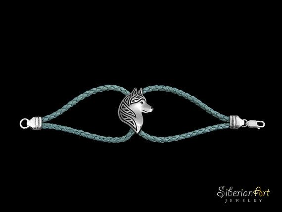 Siberian Husky profile bracelet  sterling by SiberianArtJewelry, $150.00