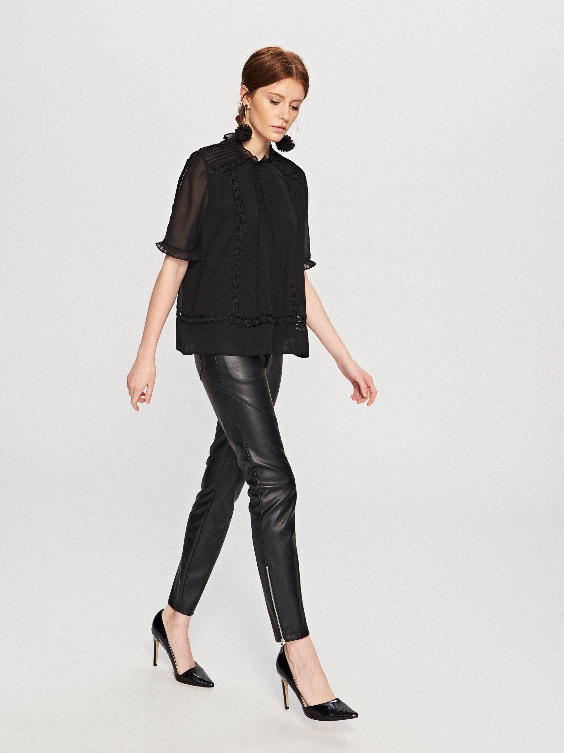 56b749e7d5b7f Bluzka z gipiury, RESERVED, SS515-99X   Fashion   Fashion, Blouse i ...