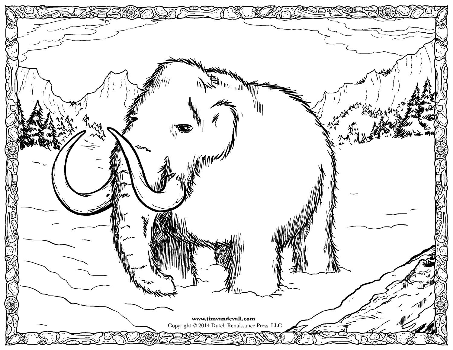 Woolly Mammoth Facts For Kids With Images Shark Coloring Pages
