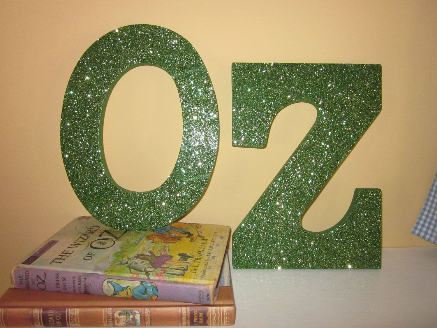 Wizard of Oz Party Decor - OZ Wooden Letters $2400, via Etsy I - Wizard Of Oz Halloween Decorations