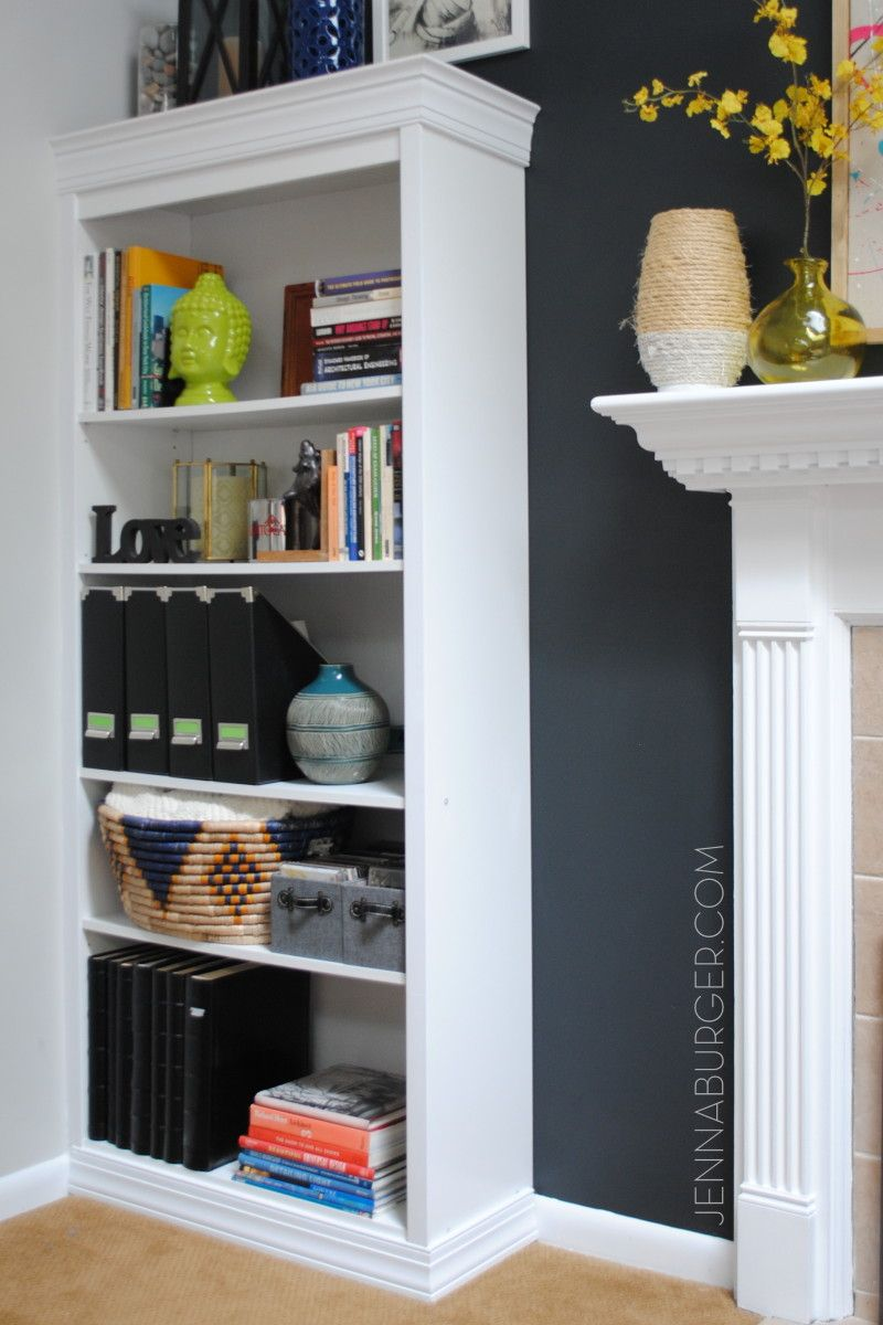 Diy tutorial howto make a laminate bookcase look like a