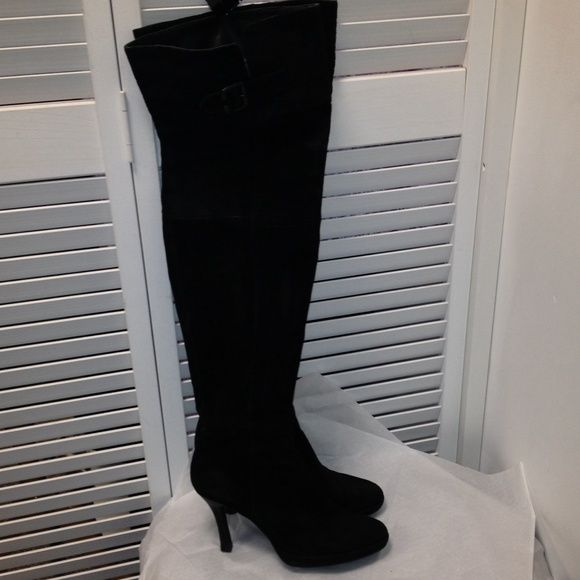 49d6e340522 Staccato above knee high black suede boots Sz 40 Staccato above knee high  black suede boots