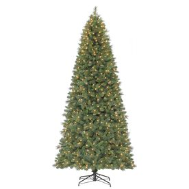 9 Ft Pre Lit Fir Artificial Christmas Tree With 700 Count White Incandescen Slim Artificial Christmas Trees Artificial Christmas Tree Led Color Changing Lights