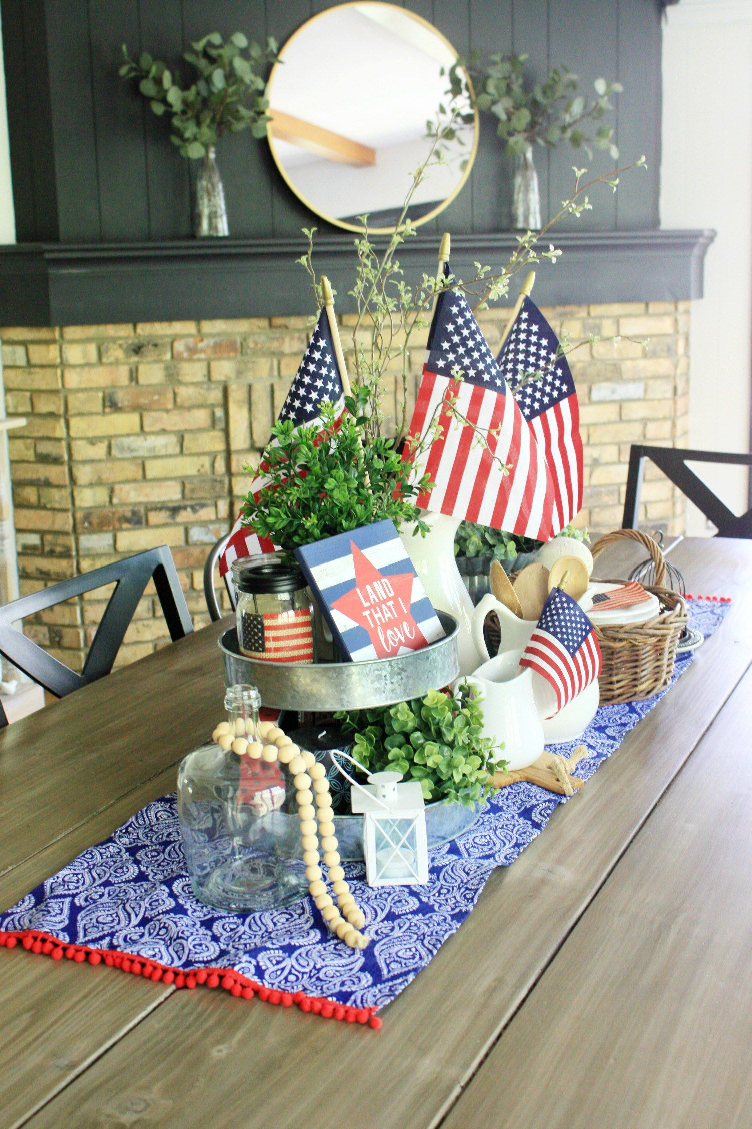 Check Out This Beautiful Farmhouse 4Th Of July Decor In