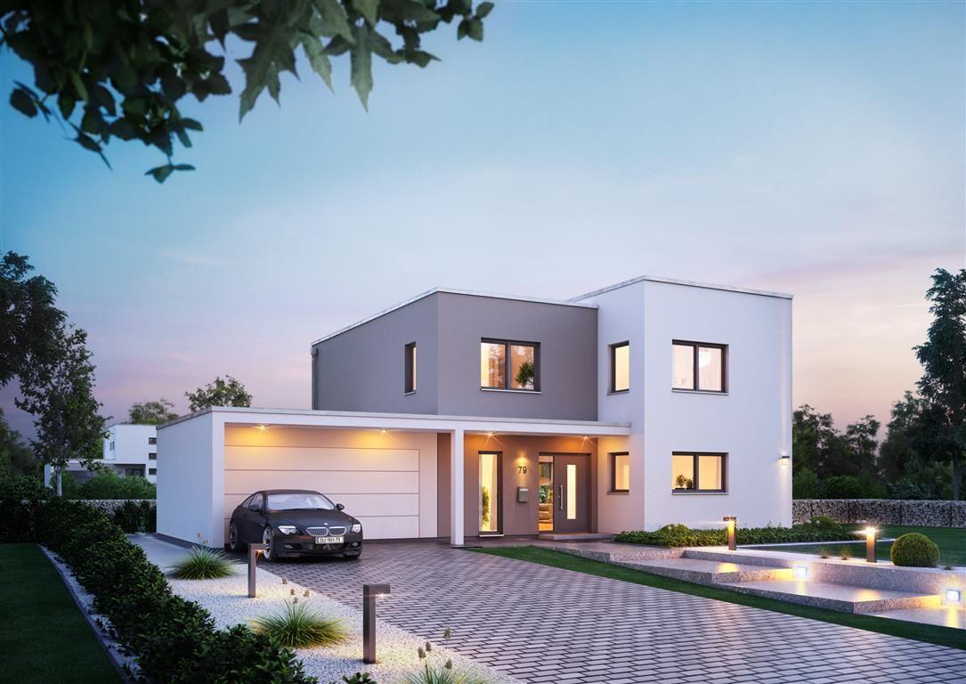 Schlüsselfertiges Massivhaus Spektralhaus: Casas, Fachadas Casas Minimalistas