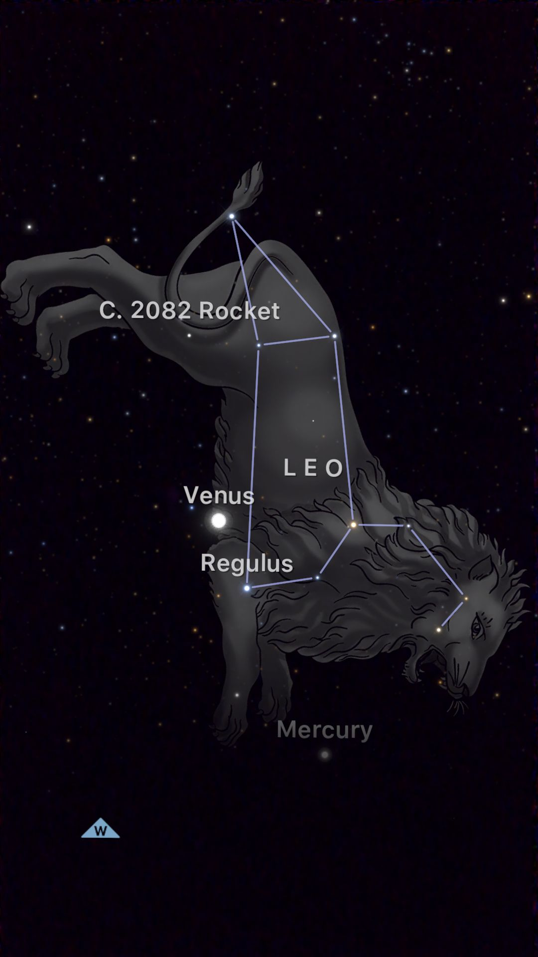 Check out my sky in the stargazing app SkyGuide by