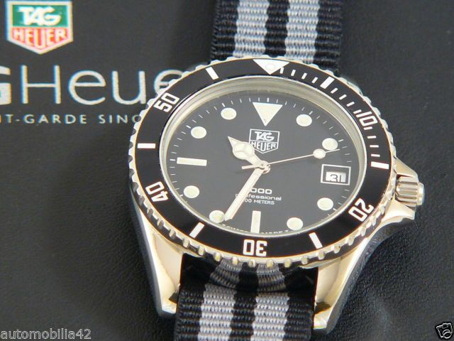 TAG Heuer 1000 Submariner Man Black edition with a James ...