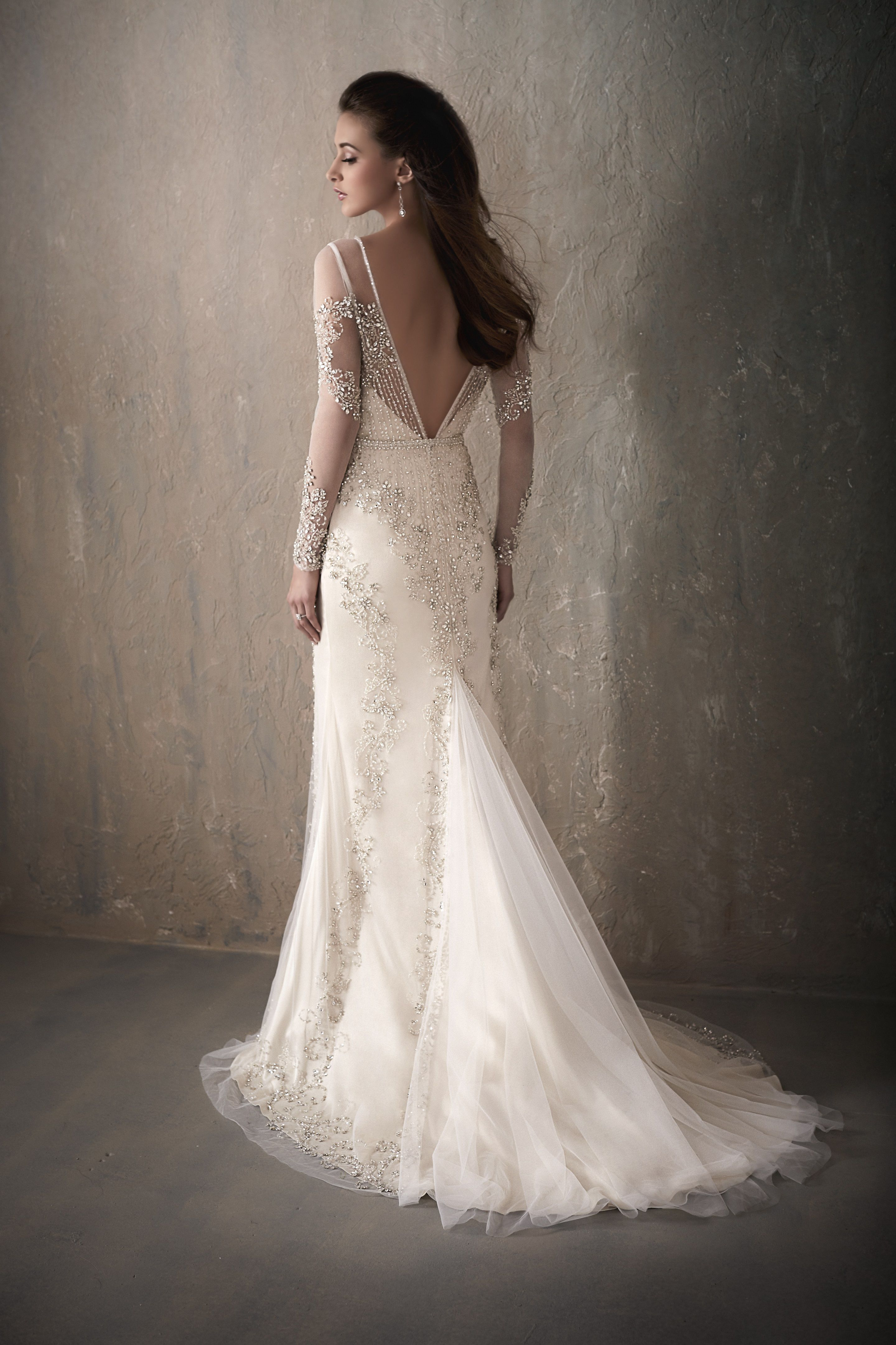 Adrianna Papell Platinum Bridal Gown Roberta All Over Beading