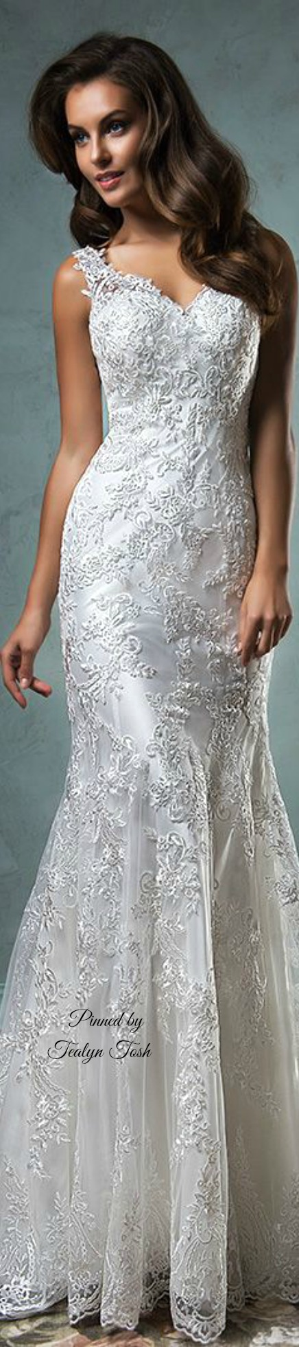 Grey lace wedding dress  Amelia Sposa   Tealyn Tosh