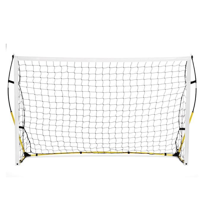Get your practice going in under 2 minutes. The Quickster® is easy to setup and ultra-portable, yet durable and stable for youth and elite players alike. The unique Tension-Tite poles create a sturdy frame, while the easy Velcro net attachments and steel ground stakes ensure the net will stay put. Carry bag is included for compact storage.