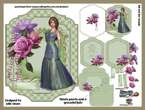 Petals pearls and a graceful lady by julie green this beautiful kit