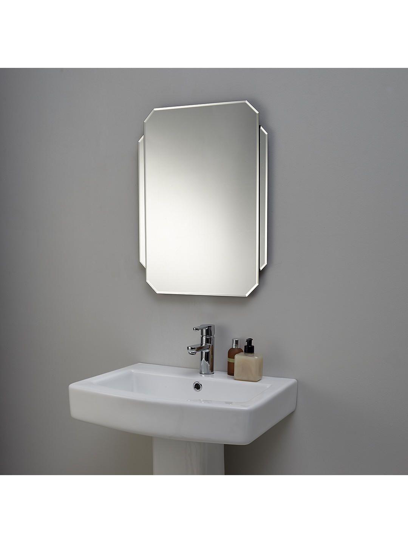 john lewis  partners deco glass wall mirror  modern
