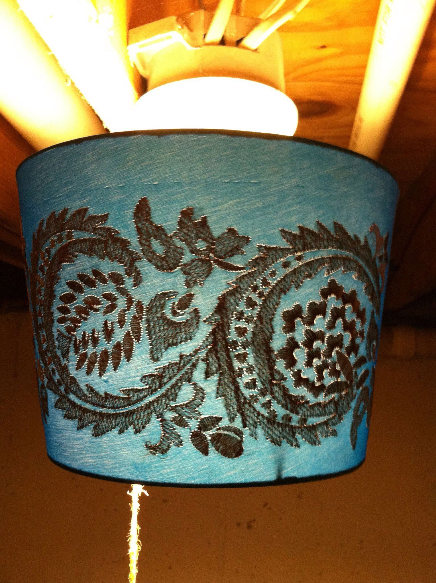 Basement Lighting Fixtures: Cover Unfinished Basement Lights With Lamp Shade Turned