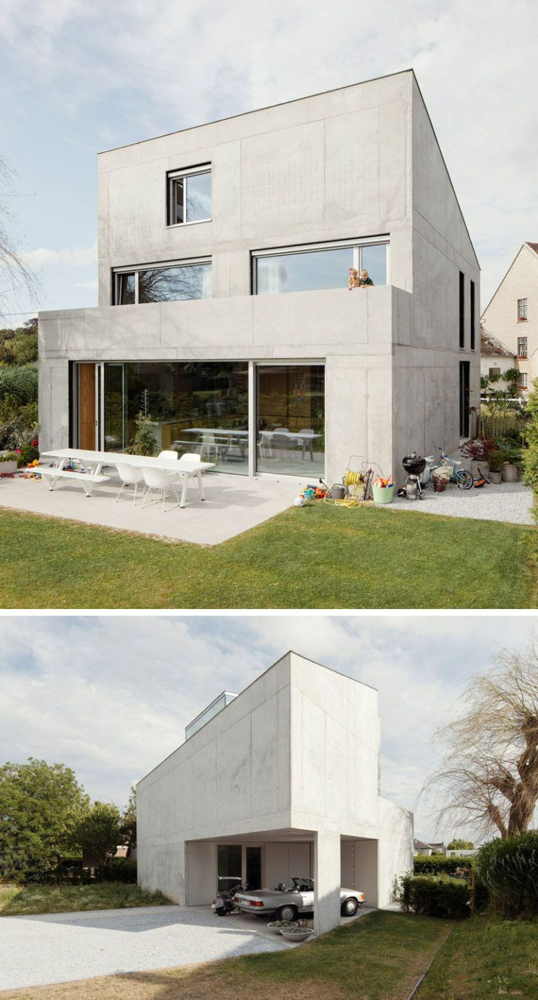 13 Modern House Exteriors Made From Concrete Modern House Exterior House Cladding Modern House Plans