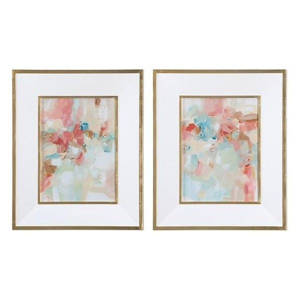 A Touch of Blush Framed Wall Art - Set of 2 ($439) ❤ liked on ...