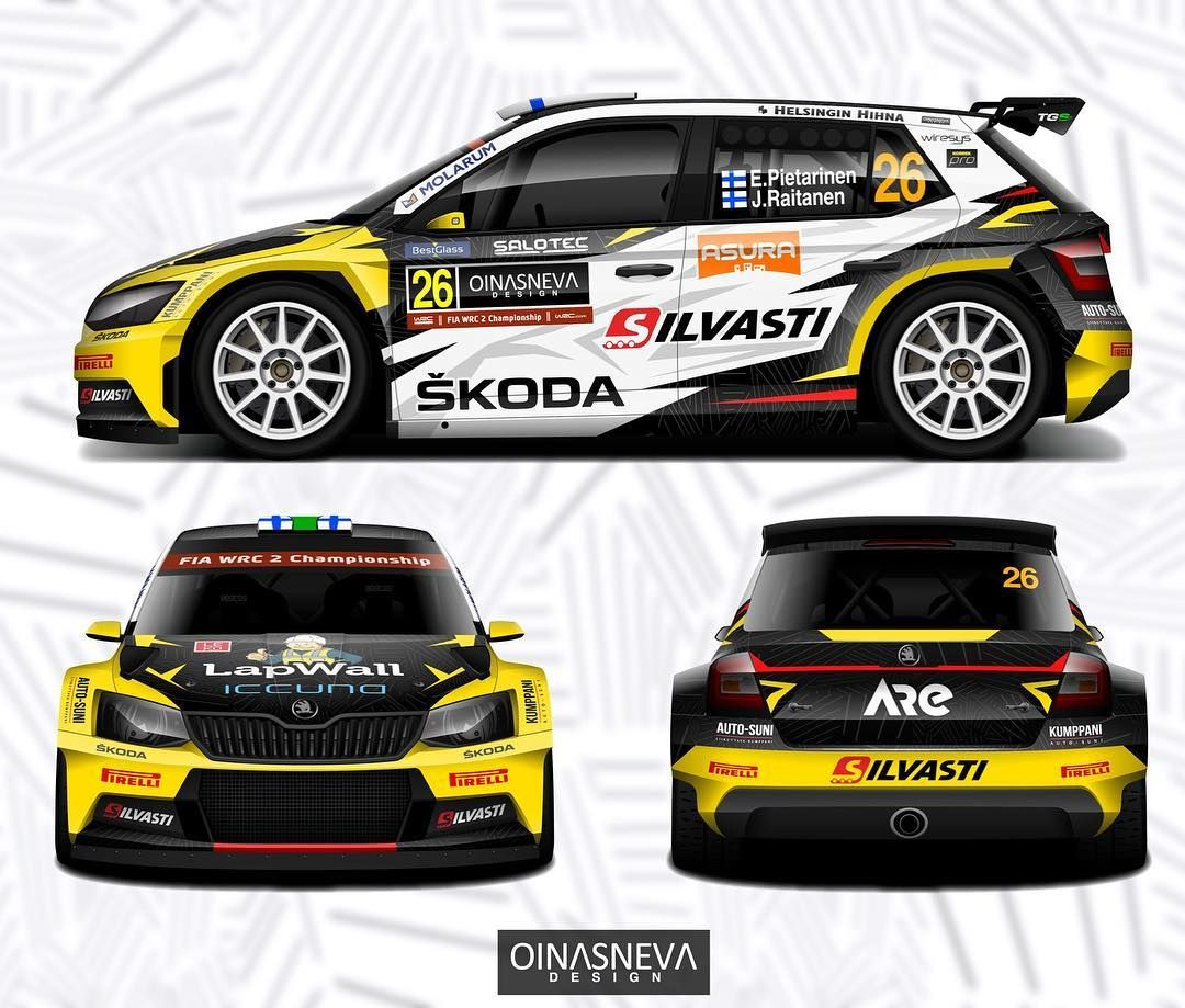 Wrc On Instagram Livery Check Wrc2 Eerikpietarinen Juhanaraitanen Tgs Worldwide Skodamotorsport Read Racing Car Design Car Wrap Design Car Wrap