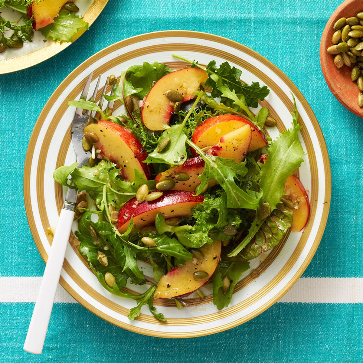 Shrimp Nectarine Salad Recipe: Nectarine Salad With Pepitas