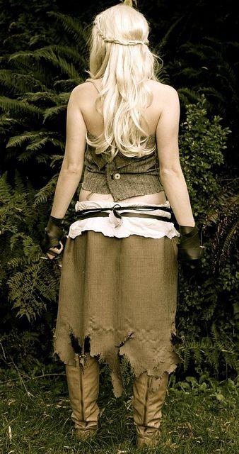 Daenerys targaryen costume cosplay a game of thrones for Game of thrones daenerys costume diy