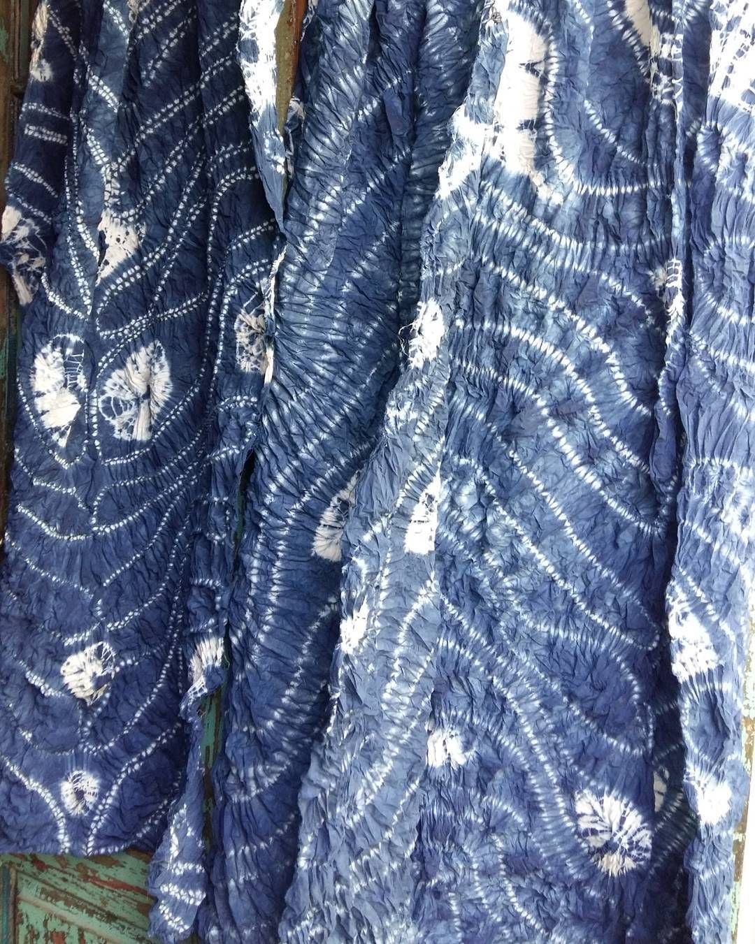 Indigo Shibori Dye Ori Nui Pattern Fabric - Year of Clean Water