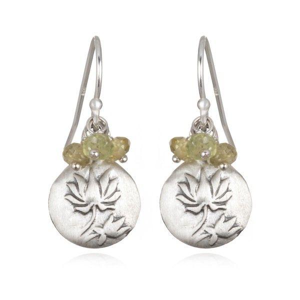Peridot Satya Lotus Cer Earring