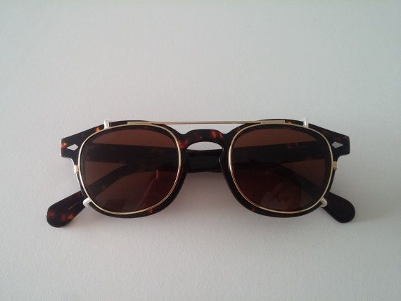 547cec9d06 Gold Amber/Brown Clip-On for Moscot Lemtosh and Tart Arnel Depp Eyeglasses  for Size 46-24