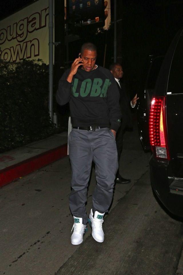 huge discount 30ec4 cc8cc Jay-Z wearing Nike Air Force 180 Mid