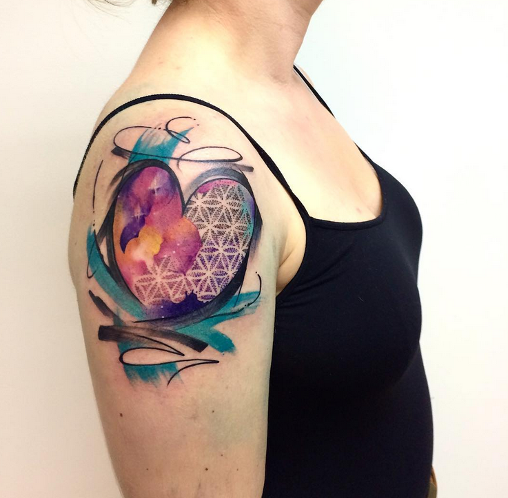 unbelievable abstract heart tattoo by shenna audenaerd tribal rh pinterest se Abstract Tattoos for Men Abstract Cross Tattoo
