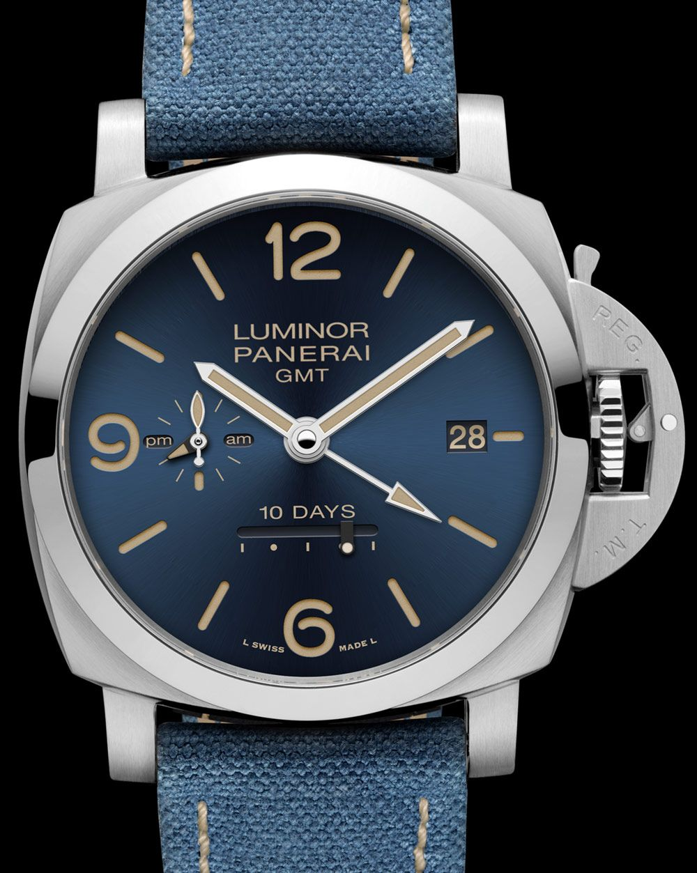 ebefd0c53a0 Panerai Luminor 1950 10 Days GMT Automatic Acciaio Design Miami PAM986 Watch  Watch Releases