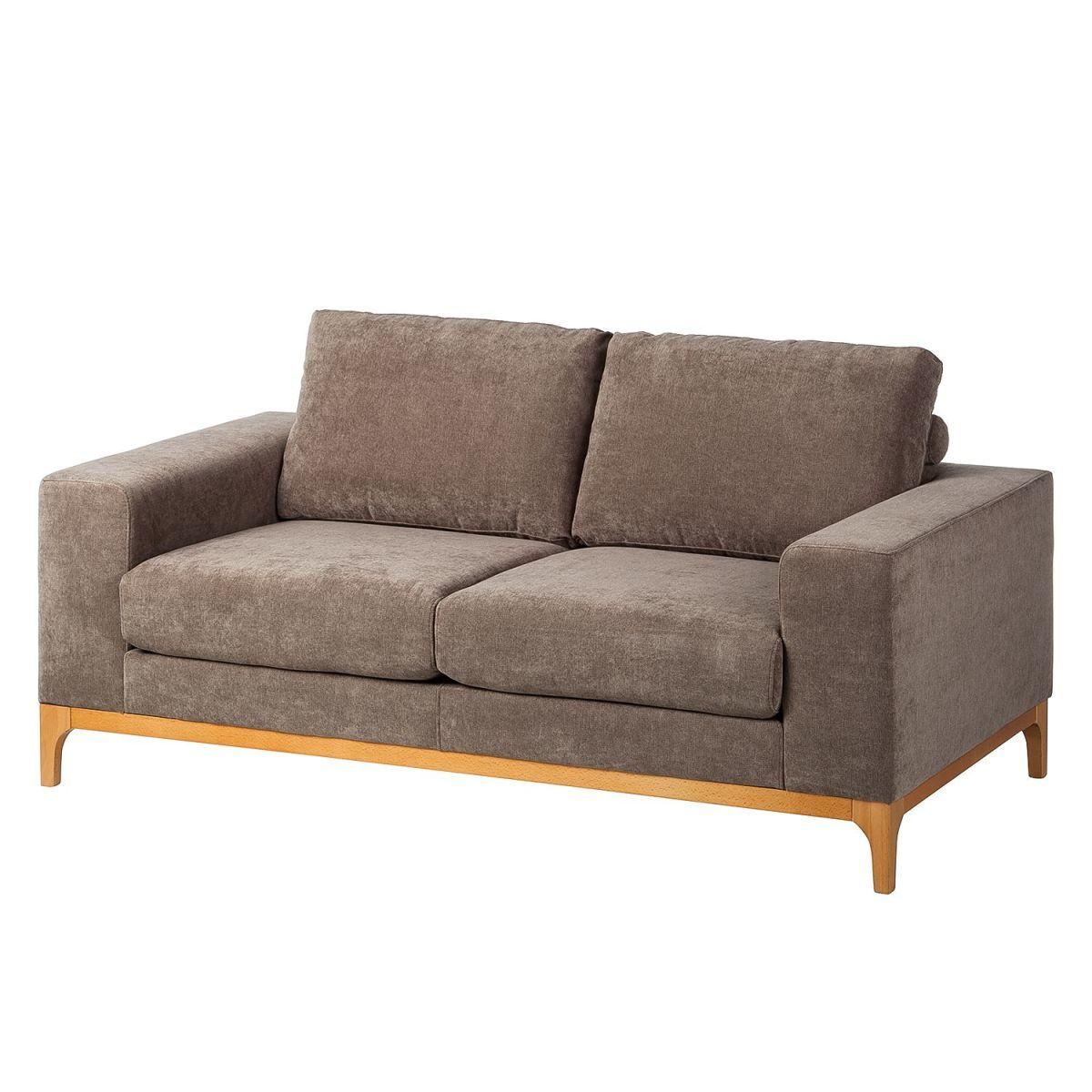 Sofa Campina (2-Sitzer) - Microfaser - Kokosnuss Braun, Ars Natura ...