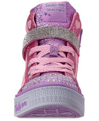 6f4ccdb7e50c Skechers Little Girls  Twinkle Toes  Twinkle Lite - Beauty N Bliss High-Top  Casual Sneakers from Finish Line - 11